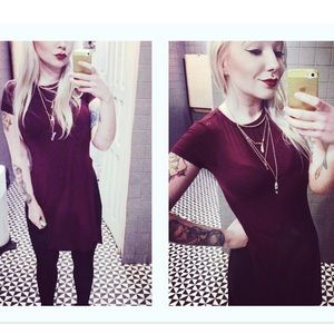 Bershka long tee top blouse with slits on the side